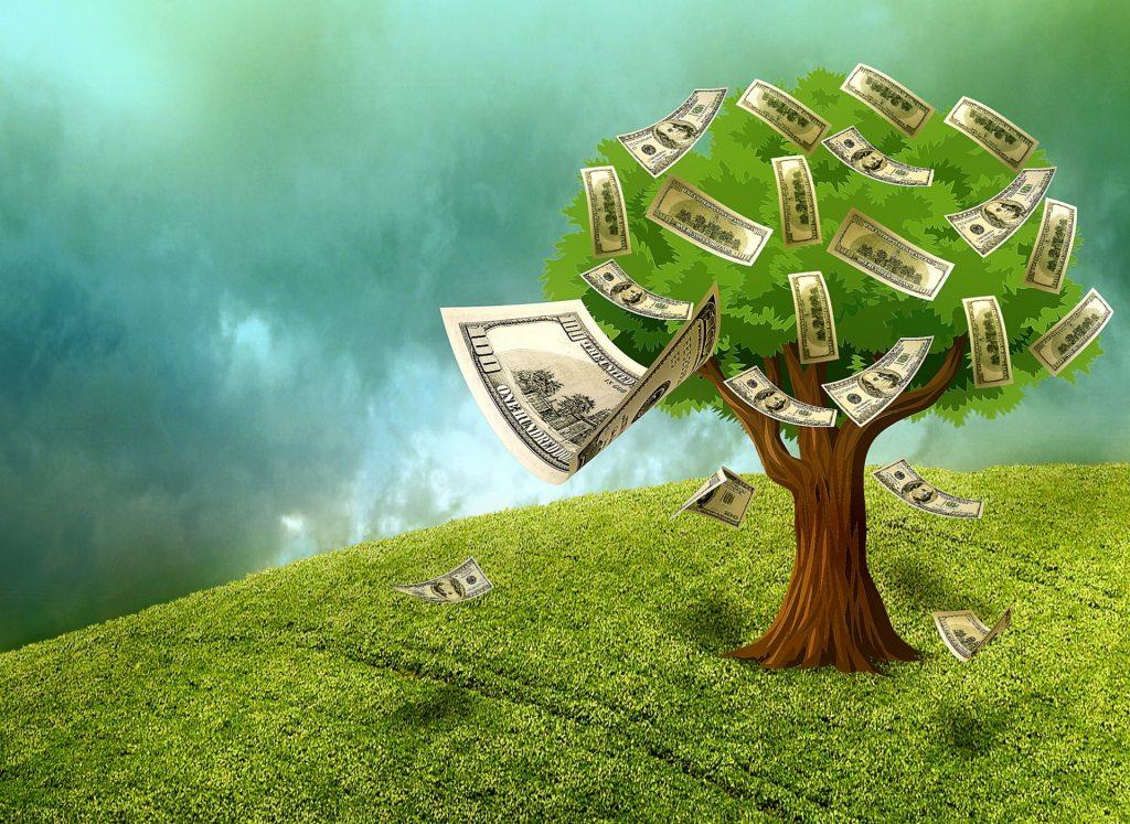 argent-qui-tombe-d-un-arbre